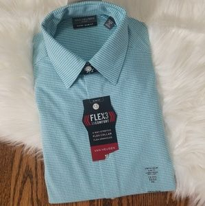 NWT XS mens dress shirt long sleeve checkers